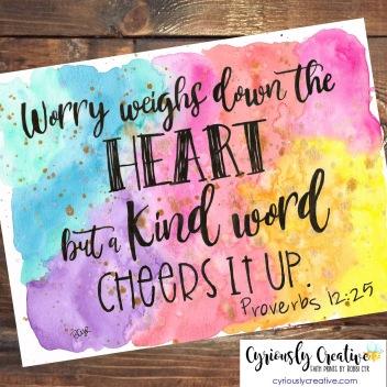 Proverbs 12:25