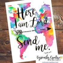 Isaiah 6:8 - colorful