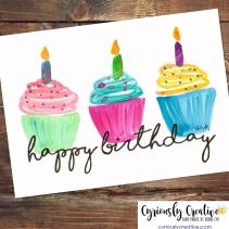 Happy Birthday (cupcakes)